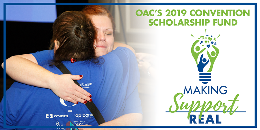 When you make a donation to OAC's 2019 Convention Scholarship Fund, you can help someone in need attend YWM2019 and find REAL support systems for their journey with weight.